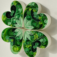 "Quilled paper art: ""may good luck be with you"""