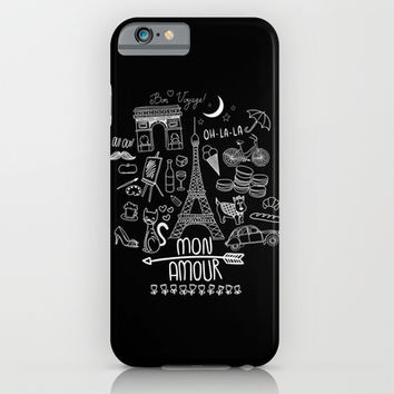 Paris Mon Amour iPhone & iPod Case by Sara Eshak