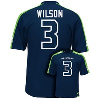 Majestic Seattle Seahawks Russell Wilson Hashmark Player Top
