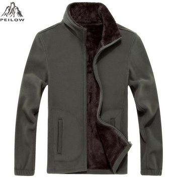 Trendy PEILOW Brand Clothing Jacket Men Spring autumn Jacket Casual Slim Fit Outerwear Fleece Men's Jackets and Coats Jaqueta Masculina AT_94_13