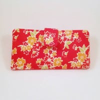 Organizer Wallet Red Floral Miss Kate Ready to ship