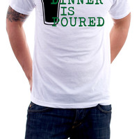 Dinner is Poured  funny beer tshirt