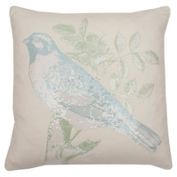 Oiseau Pillow in Antique Ground Harbor