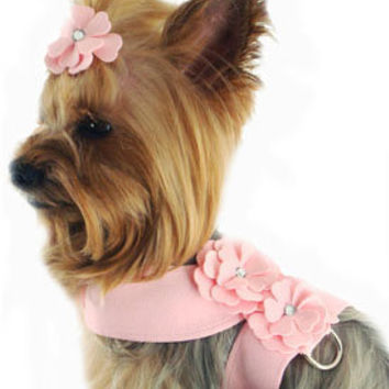 Designer Dog Harness, Best, Soft, Walking, Fancy, Pink, Small, Teacup, Puppy, Luxury Pet Boutique