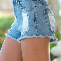 High Waist Denim Cut Off Shorts Shop Simply Me Boutique SHop SMB – Simply Me Boutique