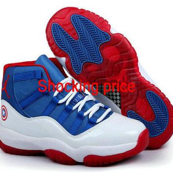 2018 Original Air Jordan 11 Captain America Custom shoe