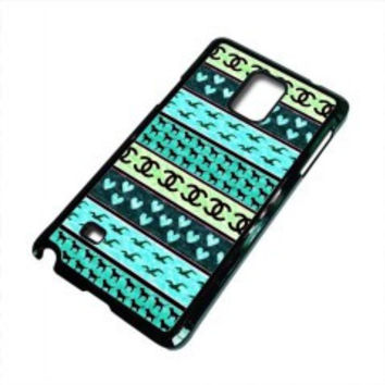 red hollister seagulls chanel sign hearts stripes for samsung galaxy note 5 case