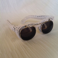 White Knitted Sunglasses