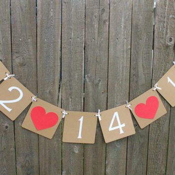 Save the Date Banner / Custom Order With Your Date / Wedding Banner / Photo Prop / Sign / Garland
