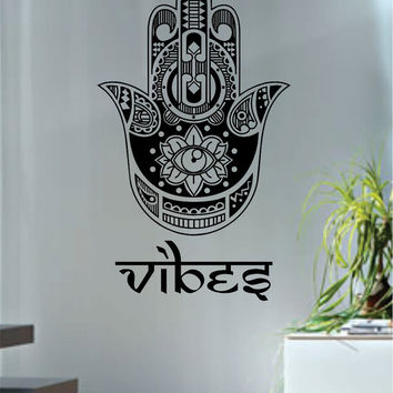 Hamsa Hand Vibes Version 6 Design Decal Sticker Wall Vinyl Decor Art