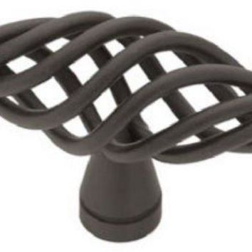 Brainerd® 69194 Large Birdcage Oval Knob, Flat Black, 2-1/2""