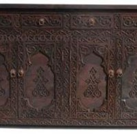 Moroccan cabinet - carved buffet - moorish decor