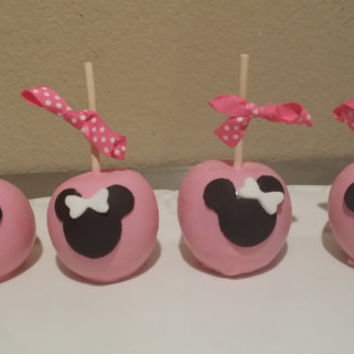 Minnie mouse apples chocolate dipped