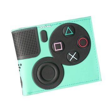 New Arrival Japan Games Play Station Mens Wallets Multicolor Unisex Leather Slim Embossed Women Purse Zipper Pocket Cards Holder