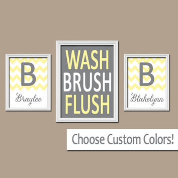 Shop gray and yellow bathroom wall art on wanelo for Bathroom canvas painting ideas