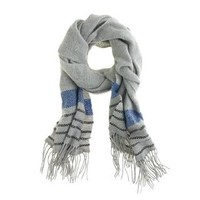 Checker-stripe scarf - accessories - Women's new arrivals - J.Crew