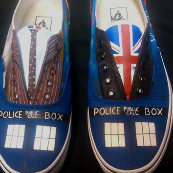 Custom Hand Painted Vans Inspired by your choice of Time Lords