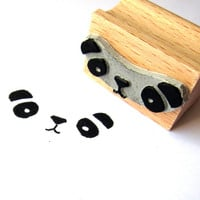 rubber stamp  PANDA by Citoyennes on Etsy