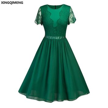 In Stock Cheap Simple Green Cocktail Dresses Short Lace Sleeve Elegant Homecoming Dress Navy Blue Formal Dresses Short Prom Gown