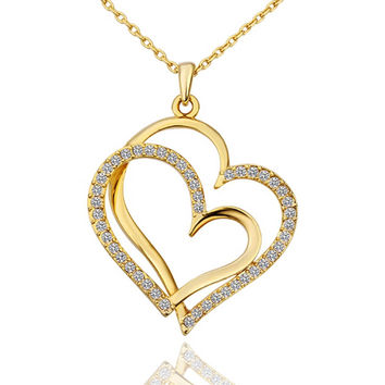 New 2016 Necklace Women jewelry 18K Gold necklaces & pendants XWLNXQVP