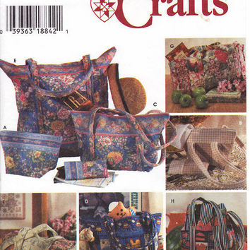 Quilted Bags Plus Eyeglass Case Patterns Simplicity by 7thStash