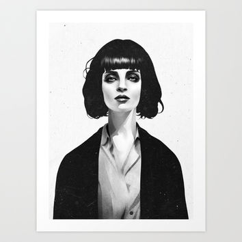 Mrs Mia Wallace Art Print by Ruben Ireland