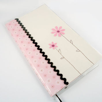 2013 Pocket Planner with bookmark, Pocket Calendar, Date Book, Agenda, Personal Organizer, Appointment book, Pink Brown