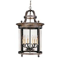 World Imports 579729 Model 1606-63: French Country Influence French Bronze Six-Light Hanging Lantern