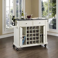 Abilene Wine Cart - Wine Cart - Wine Serving Cart - Bar Cart - Wine Cabinet - Portable Kitchen Island - Kitchen Carts | HomeDecorators.com