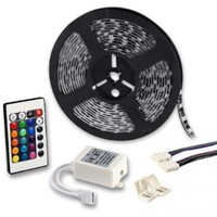 5050 SMD LED Strip Rope Light 16.4FT Remote Control RGB Color Changing 12V For Stair Stepway TV Wall