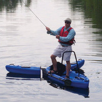The Only Stand Up Fisherman's Kayak - Hammacher Schlemmer