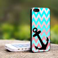 Chevron Anchor iPhone 5 Case, iPhone 4 Case, iPhone 4s Case, iPhone 4 Cover, Hard iPhone 4 Case