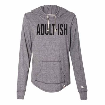 Adult-Ish - Womens Champion Brand Hoodie - Hooded Sweatshirt