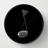 Musical note Wall Clock by Tony Vazquez