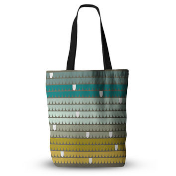 "Pellerina Design ""Teal Scallops"" Blue Aqua Everything Tote Bag"