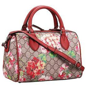 Gucci Boston Blooms Supreme Canvas Bag