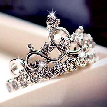 Bestselling style jewelry rose gold ring Korean crown female ring birthday gift