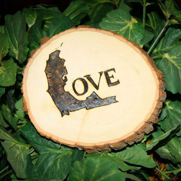 Custom wood burned Florida Love sign
