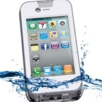 iContact IC-W105 Waterproof Case for iPhone 4 and 4S - Retail Packaging - Clear/White:Amazon:Cell Phones & Accessories