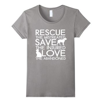 RESCUE SAVE LOVE - Dog Rescue Shirt