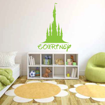 Castle With Custom Disney Name Vinyl Wall Decal Sticker Graphic