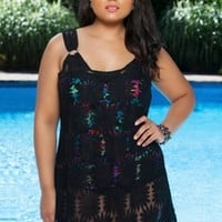Plus Size Cover Ups Always For Me Cover Crochet Sunflower Cover Up