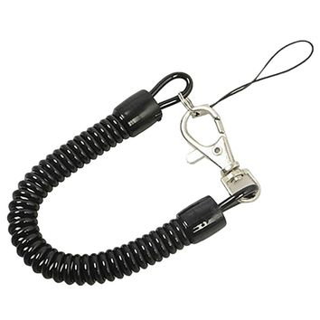 Tactical Retractable Plastic Spring Elastic Rope Security Gear Tool For Airsoft Outdoor Camping Keychain
