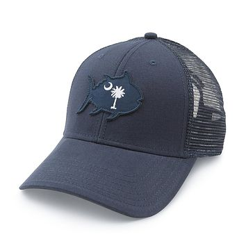 South Carolina Skipjack State Trucker Hat in Navy by Southern Tide