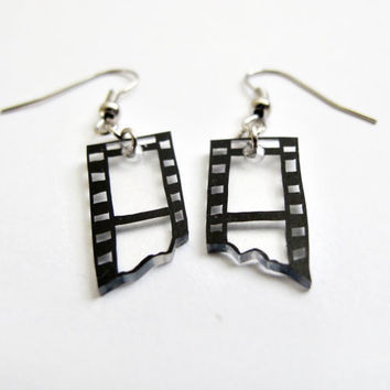 Camera Film Strip Earrings by SOMETHiNGMONUMENTAL on Etsy