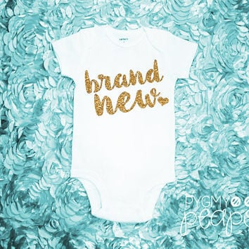 mommy is my bestie bodysuit gold from annmarieavenue on etsy