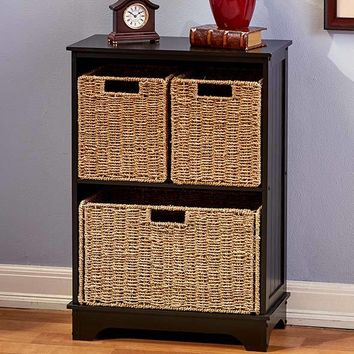 Traditional Shelving Cabinets With Baskets