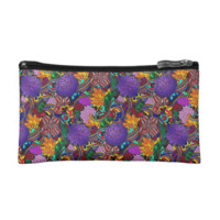Flowers and Rainbows Pattern Cosmetics Bags