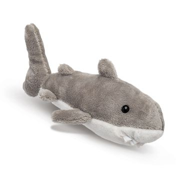 "Single Great White Shark Mini 4"" Small Stuffed Animal, Ocean Animal Toy, Sea Party Favor for Kids"