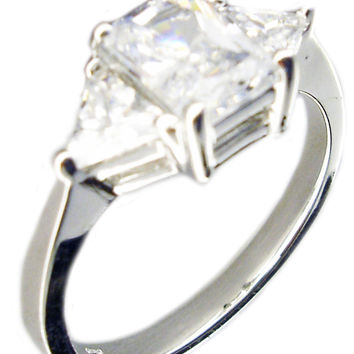 best emerald cut three ring products on wanelo